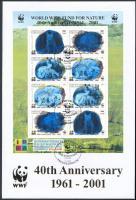 40th anniversary of WWF hologramic mini sheet FDC, 40 éves a WWF hologramos kisív  FDC-n