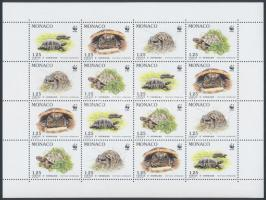 WWF Turtles mini sheet, WWF Teknősök kisív