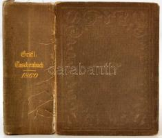 Gotaisches genealogisches Taschenbuch der gräflichen häuser aus das Jahr 1860. Gotha, 1860, Justus Perthes, 996 p. 33. évfolyam. Kiadói egészvászon kötés. Német nyelvű genealógiai munka, az elülső kötéstábla elvált a gerincnél. / Linen-binding, in german language. The cover is damaged.