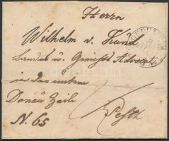 1845 Portós levél OEDENBURG - PESTH