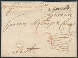 1790 Portós levél v. Hermanst: - Pest