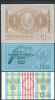 3 stamp-booklets, 3 db klf bélyegfüzet