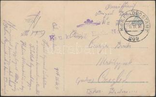 1916 Tábori képeslap K.u.k. Brig. Bäck. No.2. + FP 209