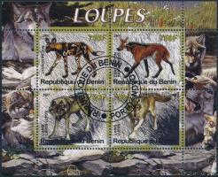 Benin 2007 Kutyafélék 4 értékes kisív