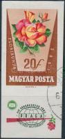 1962 Rózsák (I.) 20f vágott bélyeg alsó emblémával (5.000)