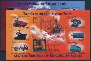 2002 Elektromosság 2 db kisív Mi 4151-4156 + 4163-4168
