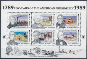 US Presidents minisheet Amerikai elnökök kisív