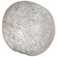 Ausztria 1683. 15kr Ag I. Lipót MM verdejel (5,40g) T:2 k. Austria 1683. 15 Kreuzer Ag Leopold I MM mint mark (5,40g) C:XF scratch Krause KM#1170