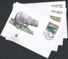 2000 WWF Ritka állatok sor 4 db FDC-n Mi 718-721