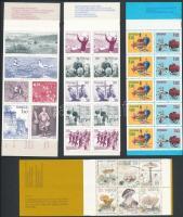 4 stamp-booklets, 4 db klf bélyegfüzet