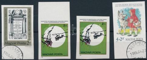 1985 4 db vágott bélyeg (5.400)