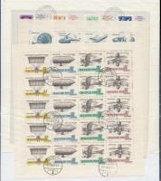1965 Bélyegnap + 1967 Aerofila I-II 3 hajtott teljes ív (9.000)