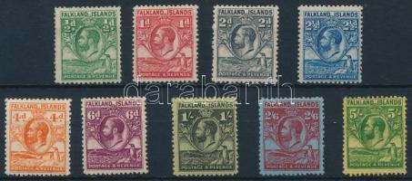 1929 V. György sor 2 záróérték nélkül Mi 48-56