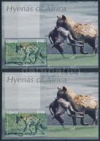 Animal; Hyena perforated and imperforated block, Állat; Hiéna fogazott és vágott blokk