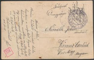 1916 Haditengerészeti posta képeslap a Csikós hajóról