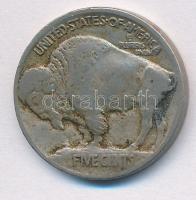 Amerikai Egyesült Államok 1913. 5c Cu-Ni Buffalo halmon T:2- USA 1913. 5 Cents Cu Buffalo standing on a mound C:VF Krause KM#133
