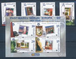 2006 50 éves az Europa CEPT ívszéli sor Mi 652-655 + blokk 21