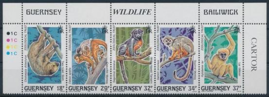 1989 Trópusi esőerdők állatai ívsarki ötöscsík Mi 465-469