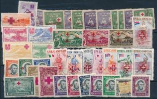 1930-1960 Red Cross 39 stamps, 1930-1960 Vöröskereszt motívum 39 klf bélyeg