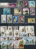 1970-2001 66 db Madár motívumú bélyeg + 1 levél 2 stecklapon