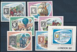 International Stamp Exhibition set + block, Nemzetközi bélyegkiállítás sor + blokk