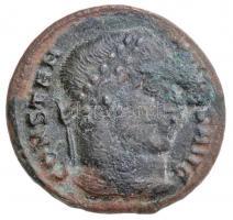 Római Birodalom / Thesszaloniki / I. Constantinus 324. Follis Cu (2,62g) T:2- patina Roman Empire / Thessalonica / Constanine I 324. Follis Cu CONSTAN-TINVS AVG / D N CONSTANTINI MAX AVG - VOT X X - TSE VI (2,62g) C:VF patina RIC VII 123.