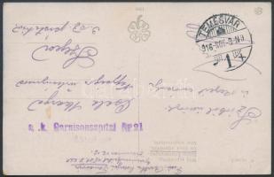 1916 Tábori posta képeslap K.u.k. Garnisonsspital Nr.21. + TEMESVÁR