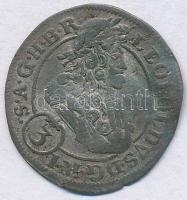 Német Államok / Szilézia 1703FN 3kr Ag I. Lipót T:2- hullámos lemez, patina German States / Silesia 1703FN 3 Kreuzer Ag Leopold I C:VF wavy planchet, patina