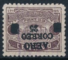 Definitive stamp with reverse overprint Forgalmi fordított felülnyomással