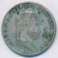 Ausztria 1837A 10kr Ag T:3 patina Austria 1837A 10 Kreuzer Ag C:F patina