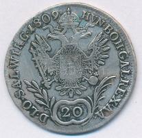 Ausztria 1809A 20kr Ag I. Ferenc T:2-  Austria 1809A 20 Kreuzer Ag Franz I C:VF