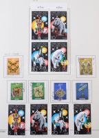 NDK 1976-1990 teljes gyűjtemény Schaubek előnyomott albumban / German Democratic Republic 1976-1990 complete collection in album