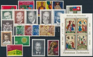 1968-1970 21 stamps + 1 block, 1968-1970 21 klf bélyeg + 1 blokk
