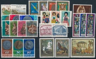 1977-1978 1 önálló érték + 9 klf sor, 1977-1978 1 stamp + 9 sets