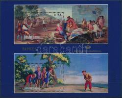 Cultural heritage, tapestries block, Kulturális örökség, Faliszőnyeg blokk