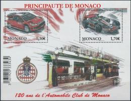 2009 120 éves a Monacói Autó Klub blokk Mi 95