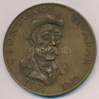 Kiss Nagy András (1930-1997) DN Csontváry Tivadar Br emlékérem ÁPV plasztiktokban (60mm) T:1