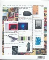 Modern művészet kisív, Modern art minisheet
