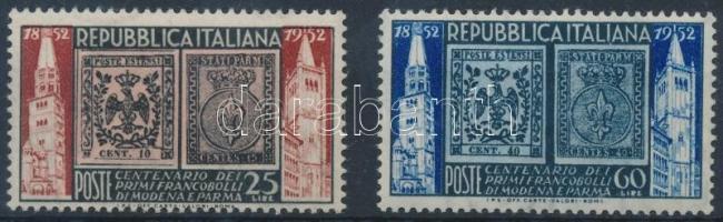 1952 100 éves a modenai és pármai bélyeg sor Mi 861-862