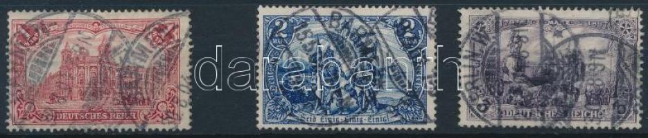 1902 Mi 78 Ab, 79A, 80Ba