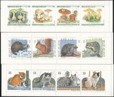 1991-1993 3 db klf bélyegfüzet, 1991-1993 3 diff stampbooklets