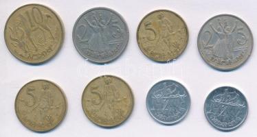Etiópia 1969. 1c Al (2x) + 1969. 5c Cu-Zn (3x) + 1969. 10c Cu-Zn + 1969. 25c Cu-Ni T:2,2- ph. Ethiopia 1969. 1 Cent Al (2x) + 1969. 5 Cents Cu-Zn (3x) + 1969. 10 Cents Cu-Zn + 1969. 25 Cents Cu-Ni C:XF,VF edge error Krause KM#43.1, KM#44.1, KM#45.3, KM#46.1
