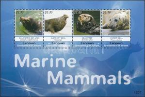 Tengeri emlősök kisív Marine mammals minisheet