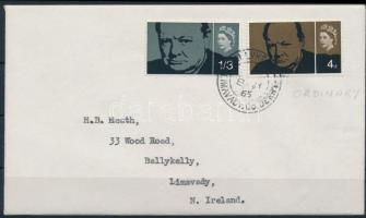 1965 Churchill sor Mi 384-385 x FDC-n