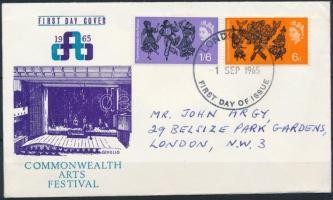 1965 Művészeti fesztivál sor Mi 392-393 x FDC-n