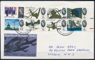 1965 Háborús évforduló sor Mi 394-401 x FDC-n