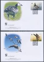 2011 WWF: Madarak sor 4 db FDC-n Mi 1298-1301