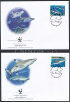 WWF: Cápák sor 4 db FDC-n WWF Sharks set 4 FDC