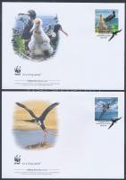 WWF: Madár sor 4 db FDC-n WWF Birds set 4 FDC