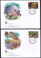 2007 WWF: Papagájhalak sor 4 db FDC-n Mi 2208-2211